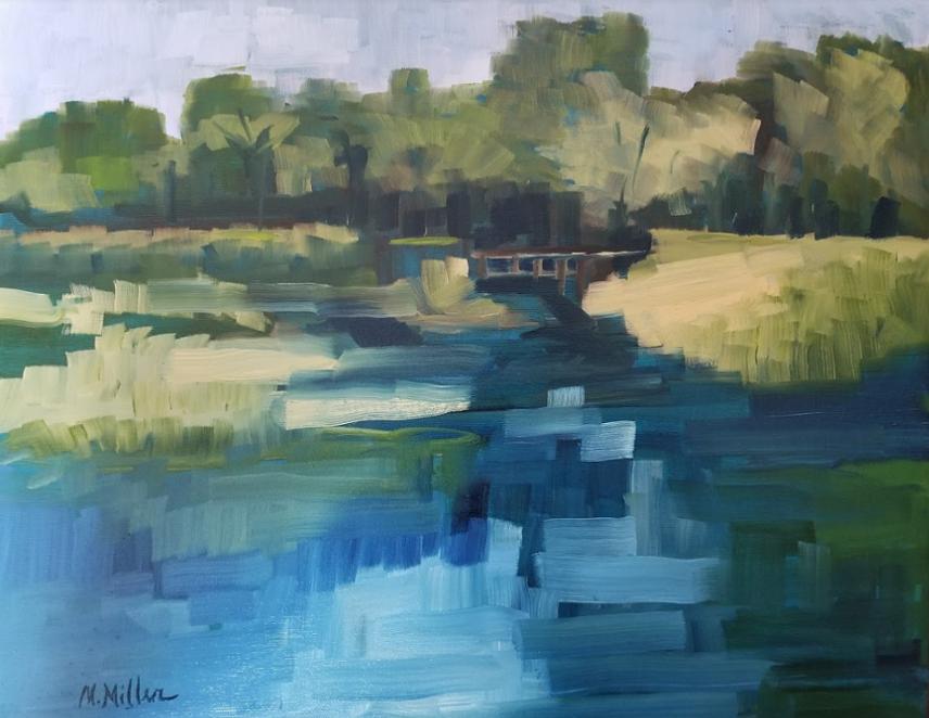 "The Bridge  - Oil - 20"" x 16"""