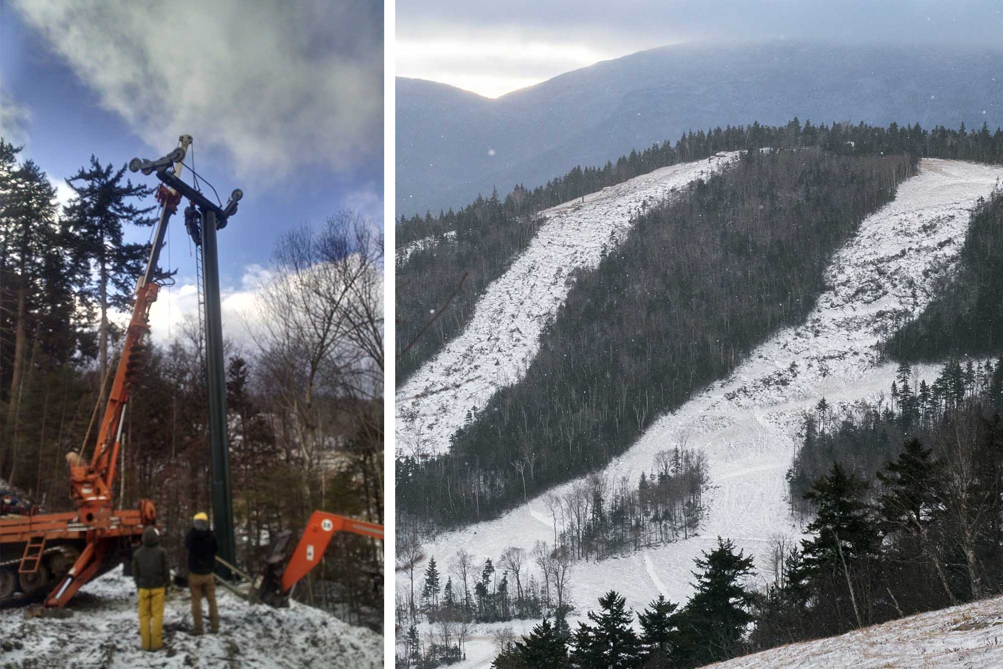 The first natural snow on the new Green Peak trails