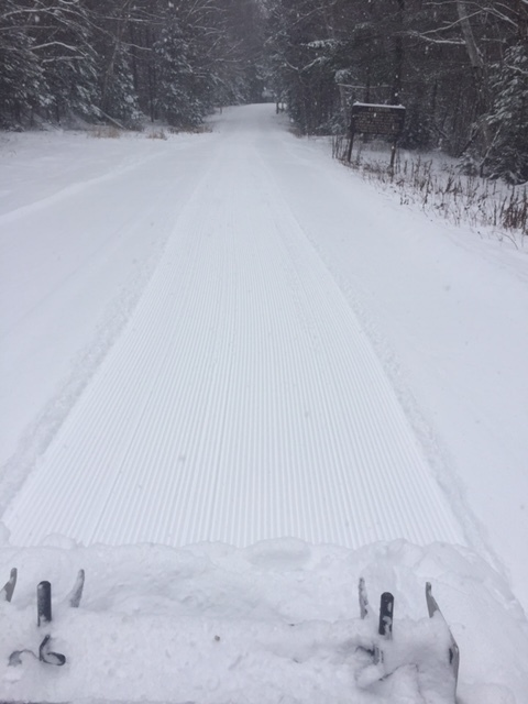 Snowmobile grooming yesterday and today