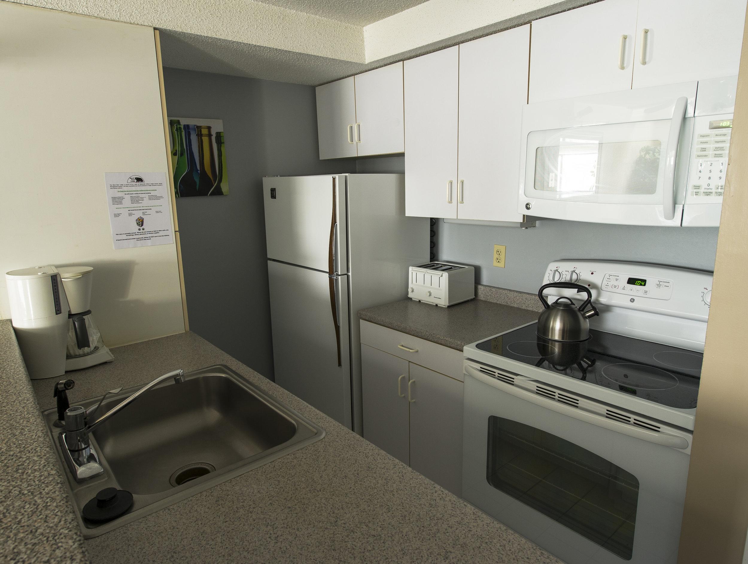 Kitchen at the Black Bear Lodge