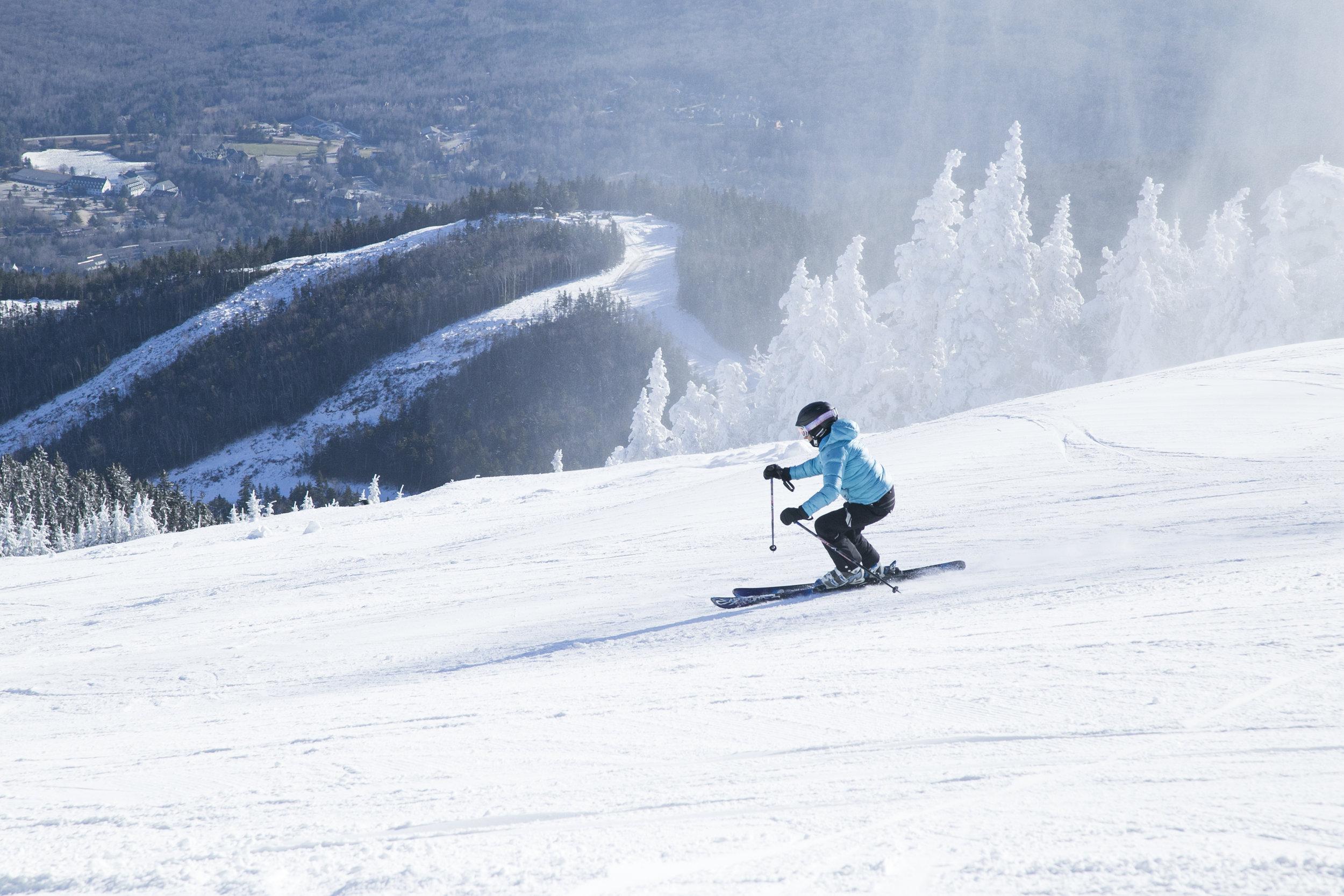 Green Peak with snow