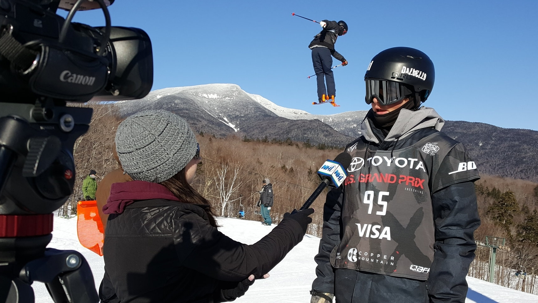 Interview up and coming athletes at one of our many events this winter.