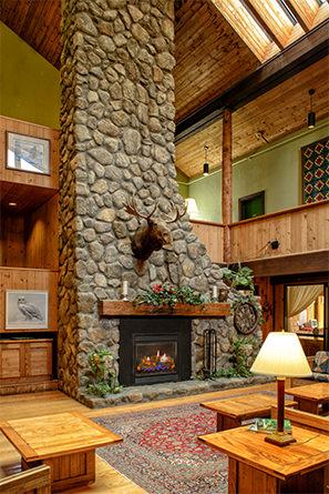Lobby at the Snowy Owl Inn