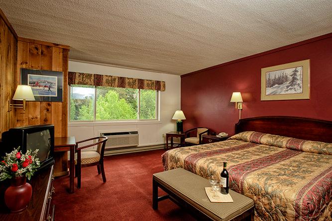 Bedroom at the Snowy Owl Inn