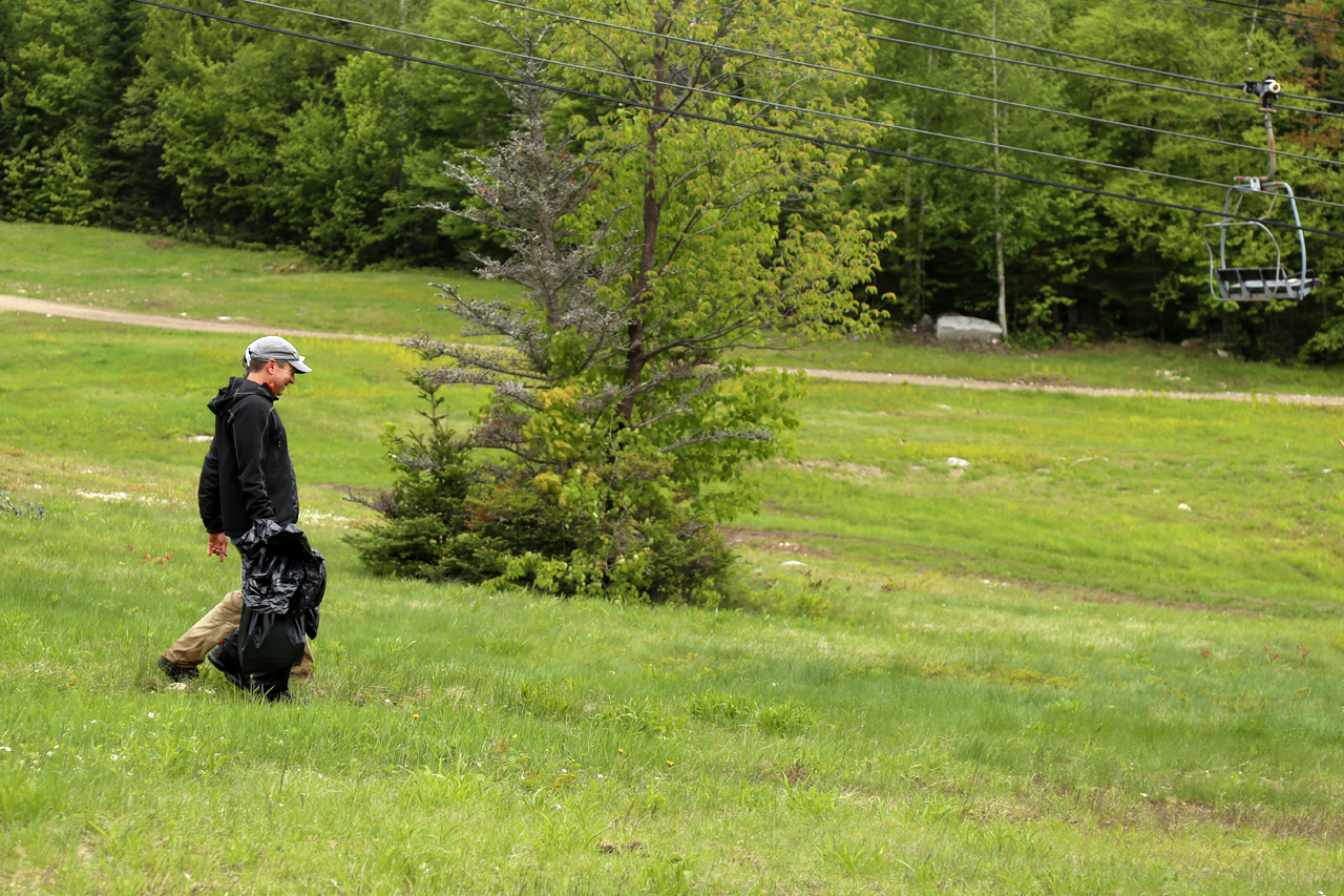 Clean-up day brought hikers back to the slopes on June 3rd.