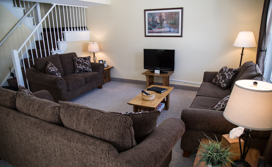 Living Room at Town Square Condos