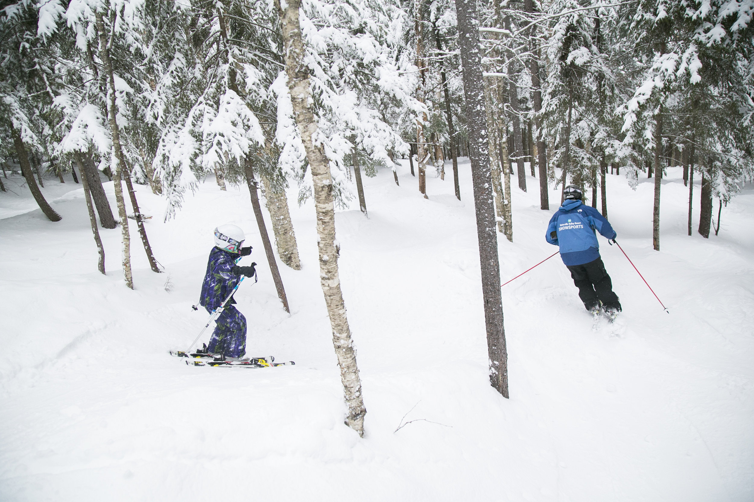 An instructor leading a student through the Sugar Shack Glades