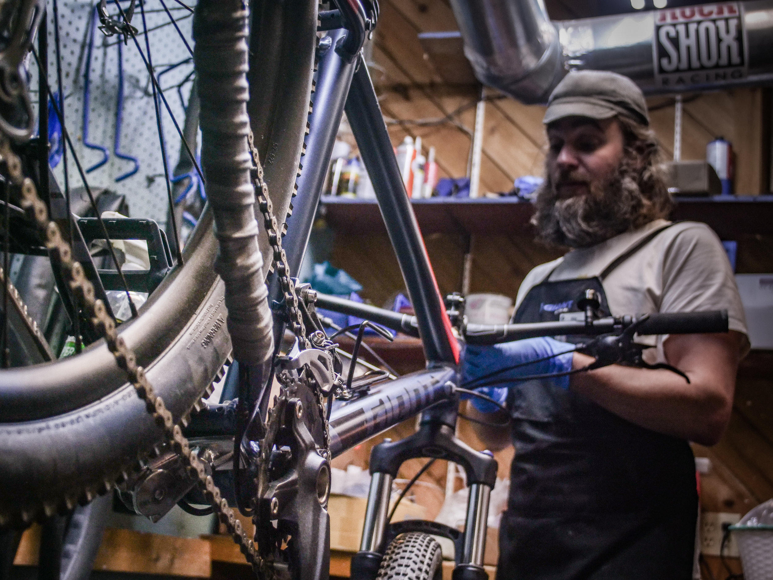 Get your bikes tuned at the Adventure Center