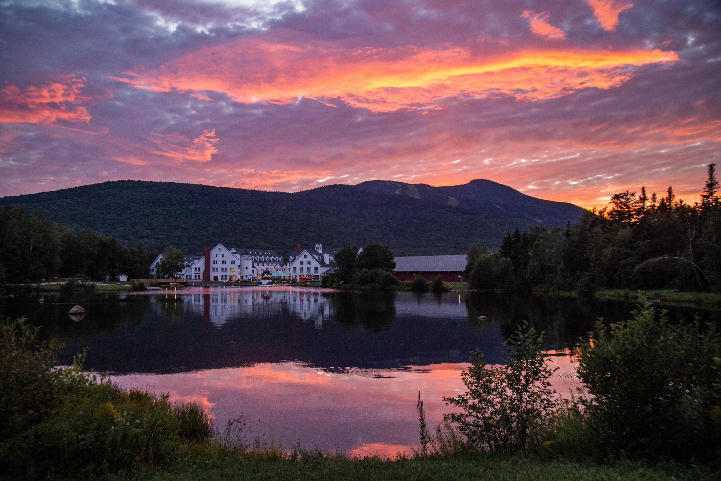A beautiful sunset over Corcoran Pond