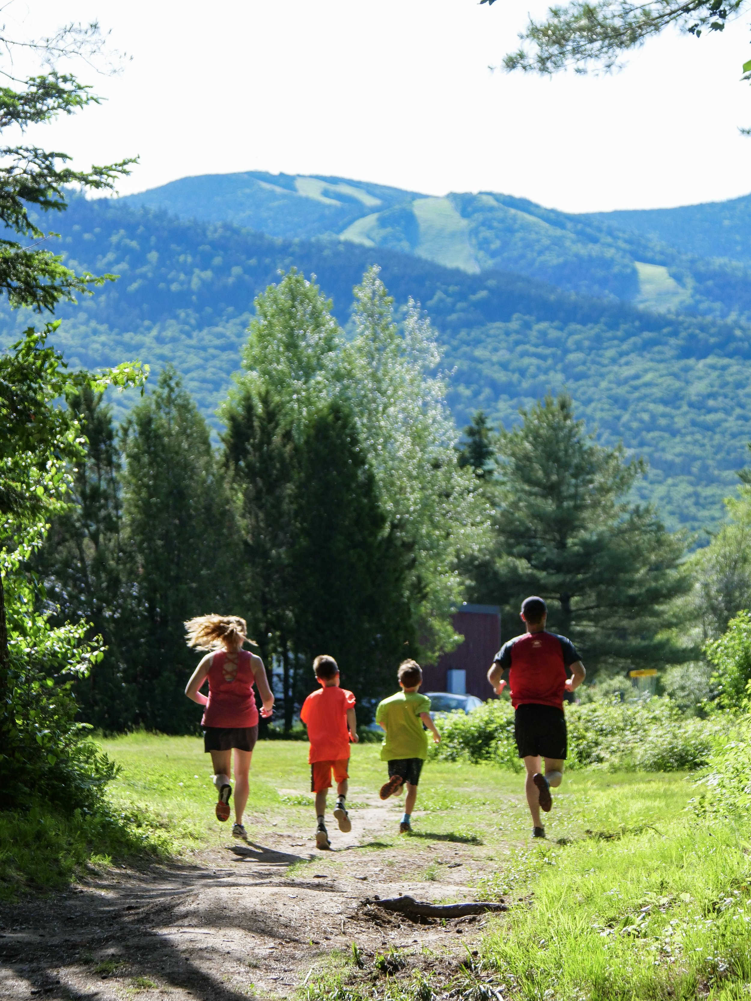 A family run in Waterville Valley