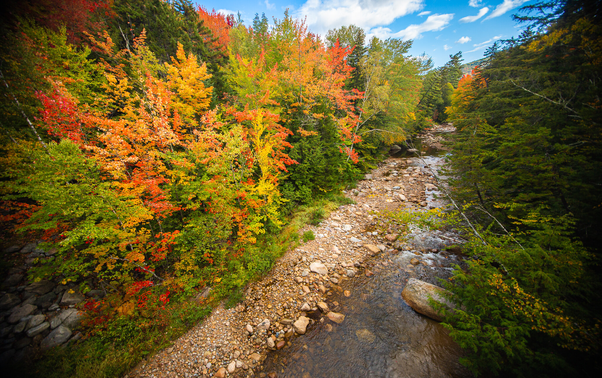 Fall foliage in Waterville Valley.