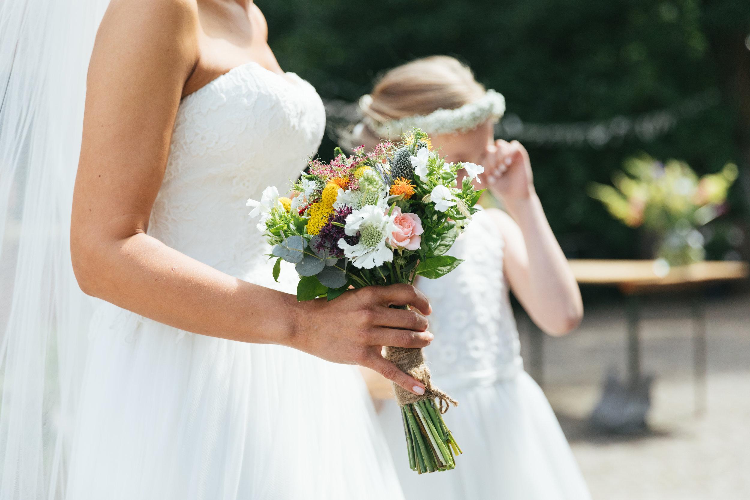 bruidsboeket meisjes van de bloemen