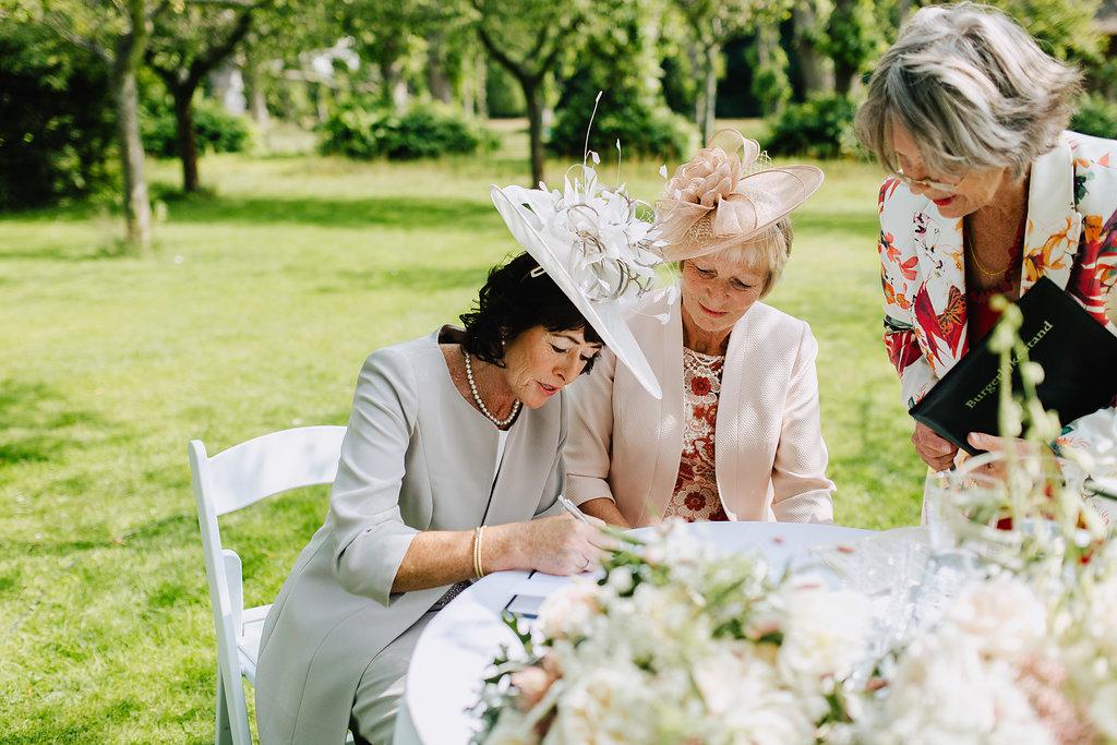 wedding signing witnesses