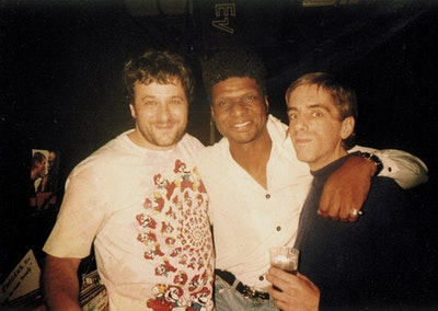 François Kevorkian, Larry Levan and Walter Gibbons (left to right)