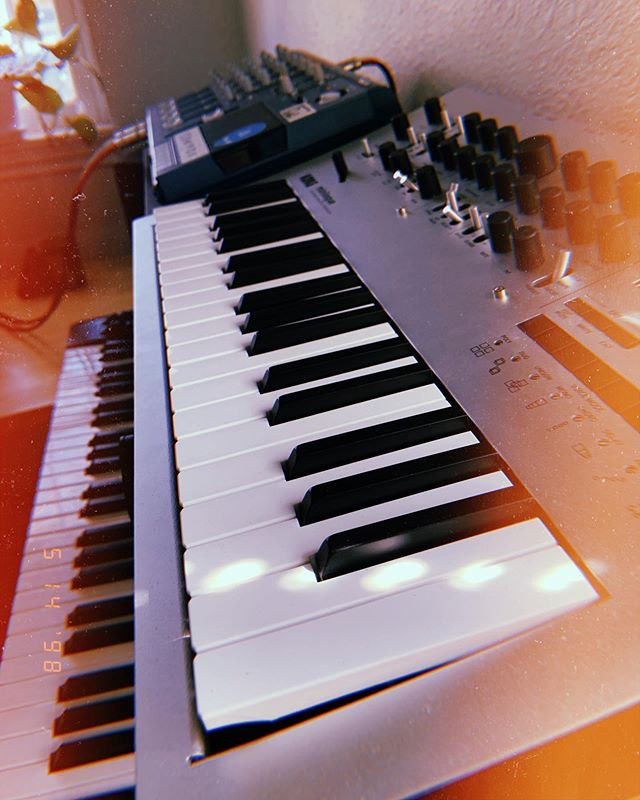 summer vibes 🌿🌞 .. .. .. — #mxxnwatchers #music #electronic #space #chill #IDM #downtempo #deeptech #synthesizers #minilogue #ableton10 #ambient #producer #producerlife #denver #colorado #darkambient #localmusicians #synthporn #studiosetup #polywave #gearporn
