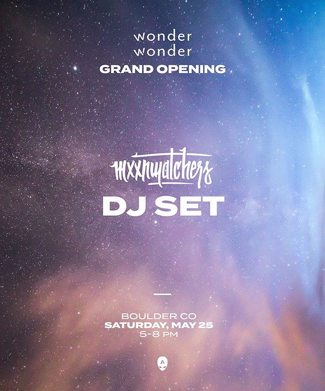 Honored to play the Grand Opening of @wonderwonder.boulder this Saturday, May 25. Visit their page for tickets.
