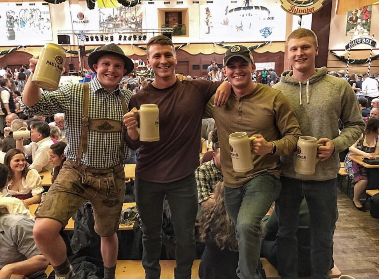 With the bros at Beerfest in Germany.