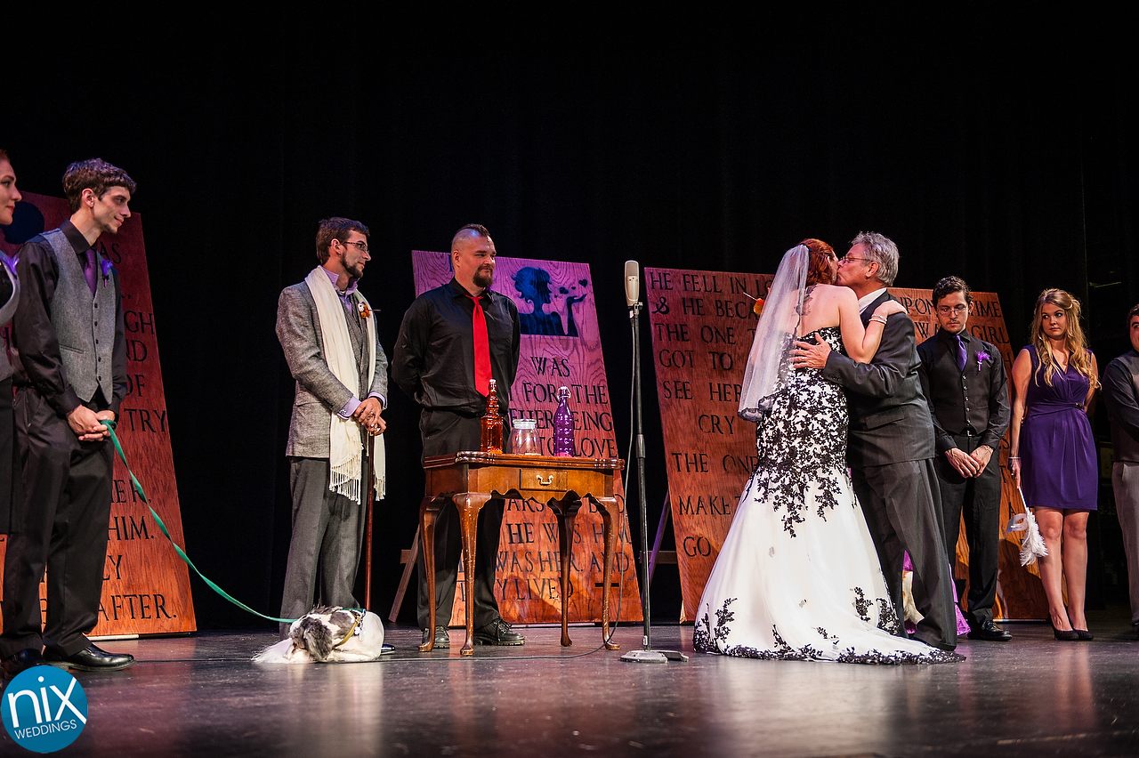 Darcy and Fen's wedding held on November 1, 2015 at the Carolina Theatre in Greensboro, North Carolina