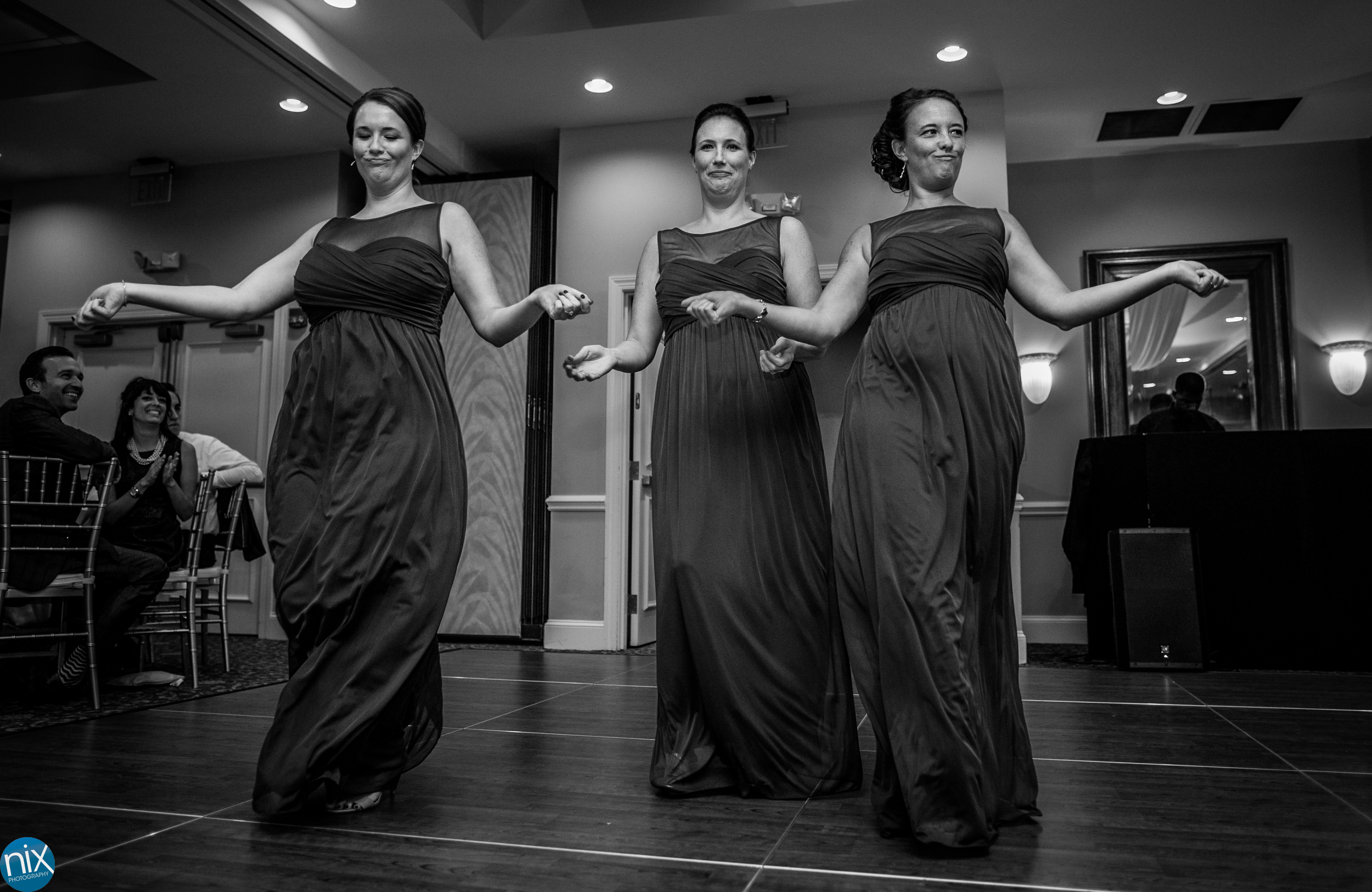 bridesmaids dance North Stone Country Club in Huntersville.jpg