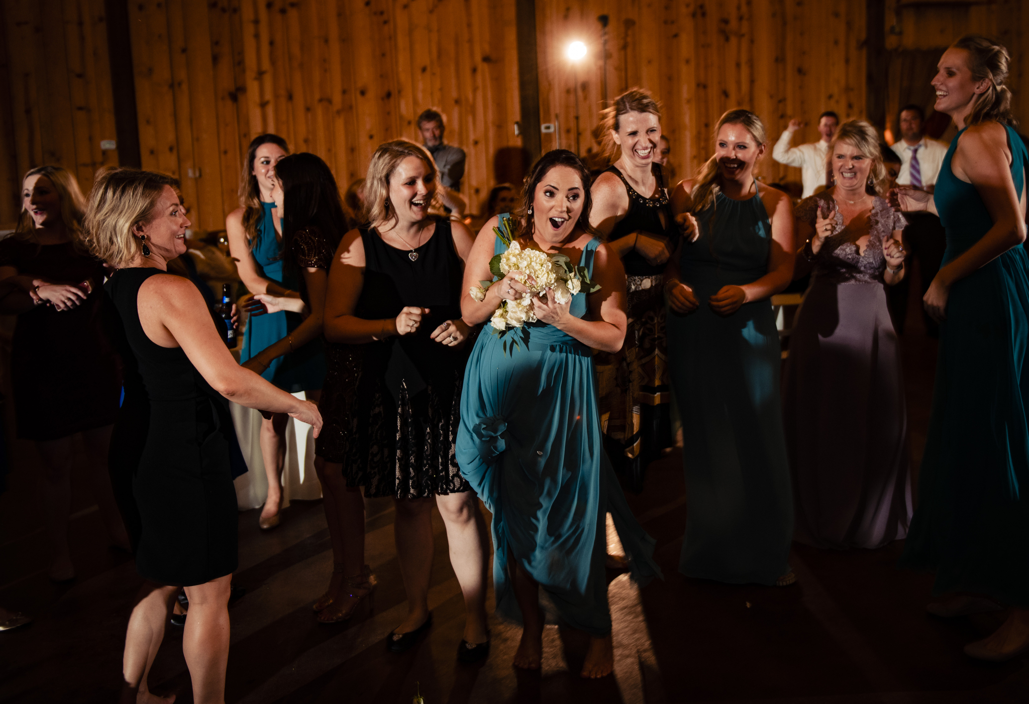 Farm at Brusharbor Wedding bouquet toss.jpg