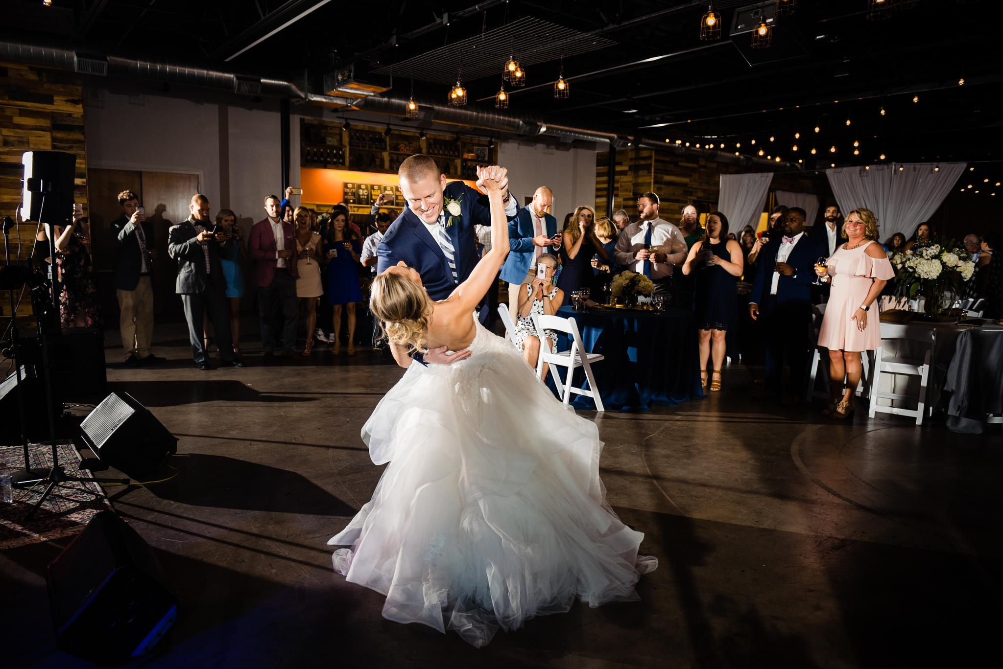 Triple C Barrel Room Wedding first dance.jpg