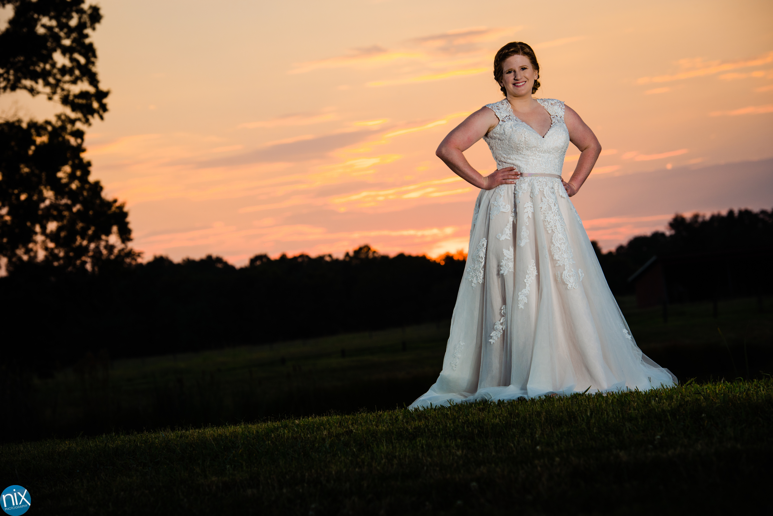 farm at brusharbor wedding dress at sunset.jpg