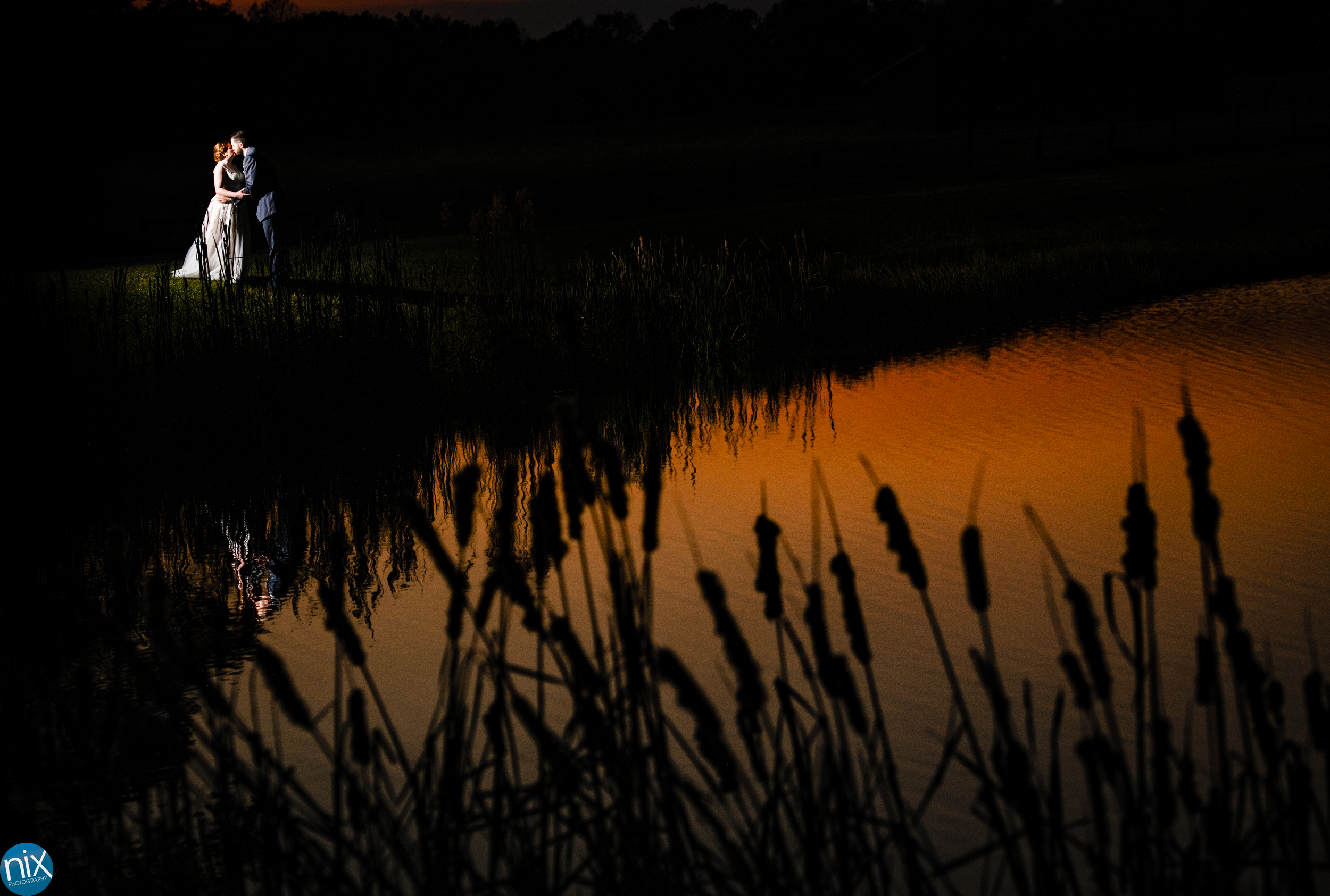Farm at Brusharbor Wedding sunset kiss.jpg