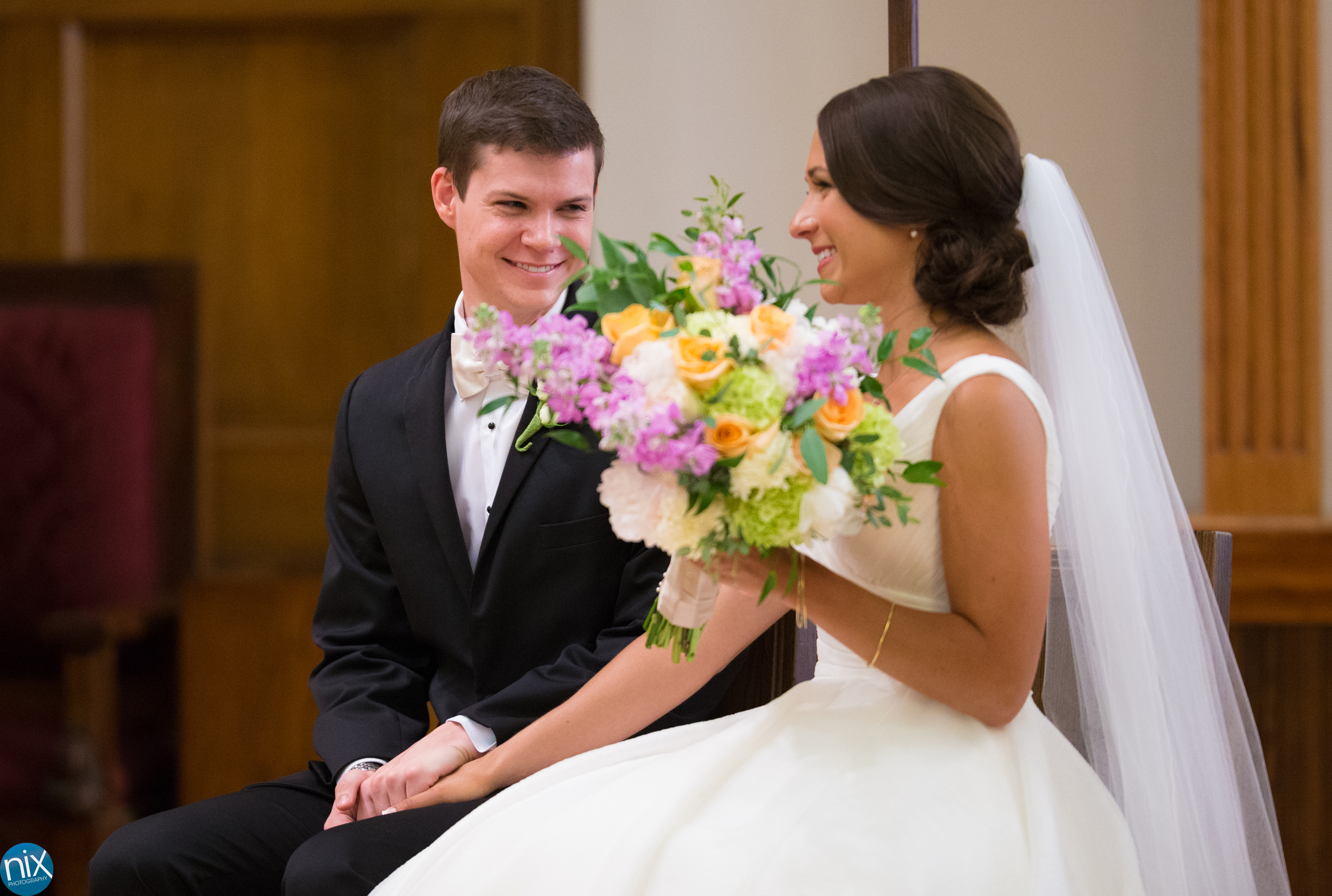 bride and groom during ceremony at St Peters Catholic Church.jpg
