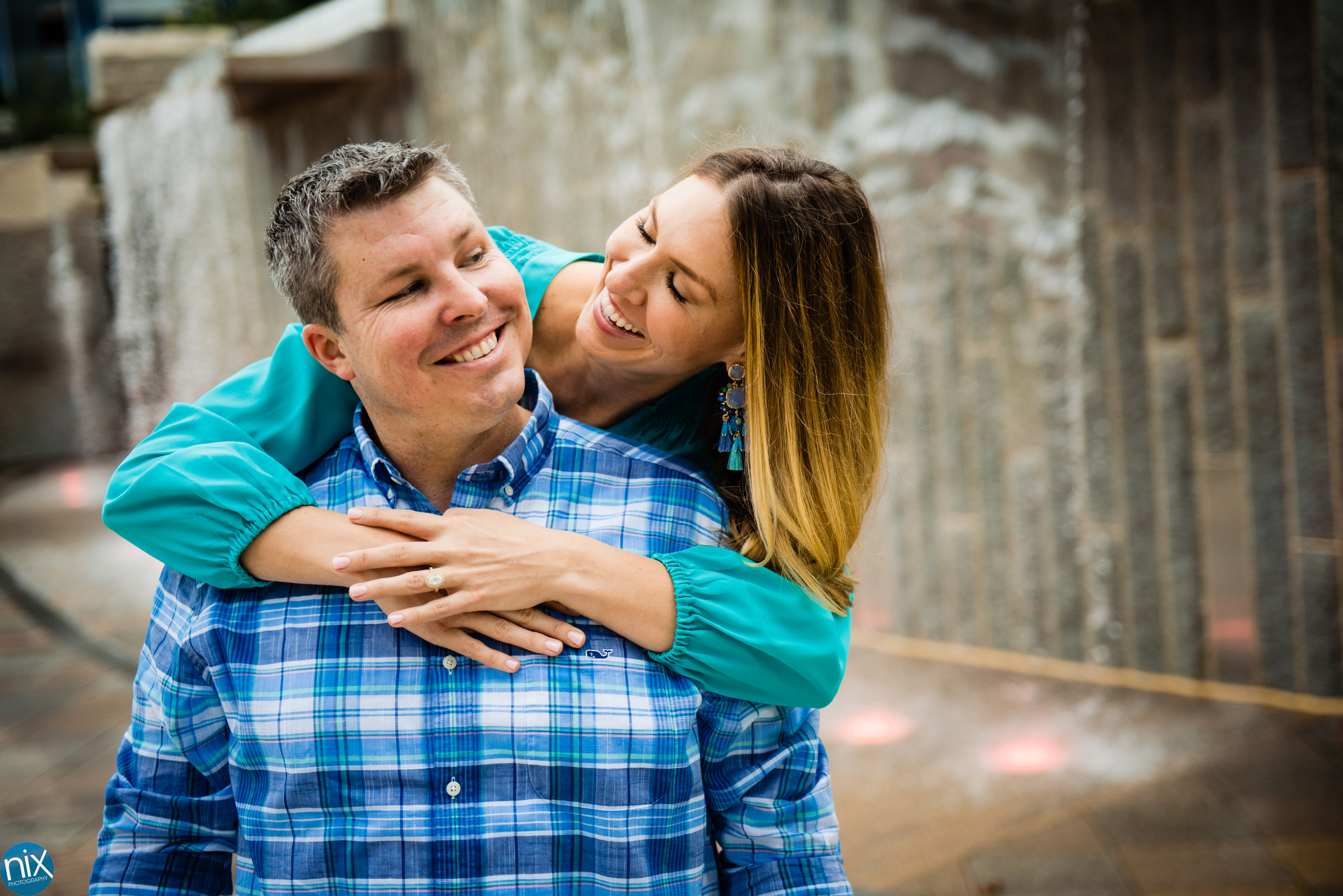 charlotte engagement at romare beardon park waterfall color.jpg