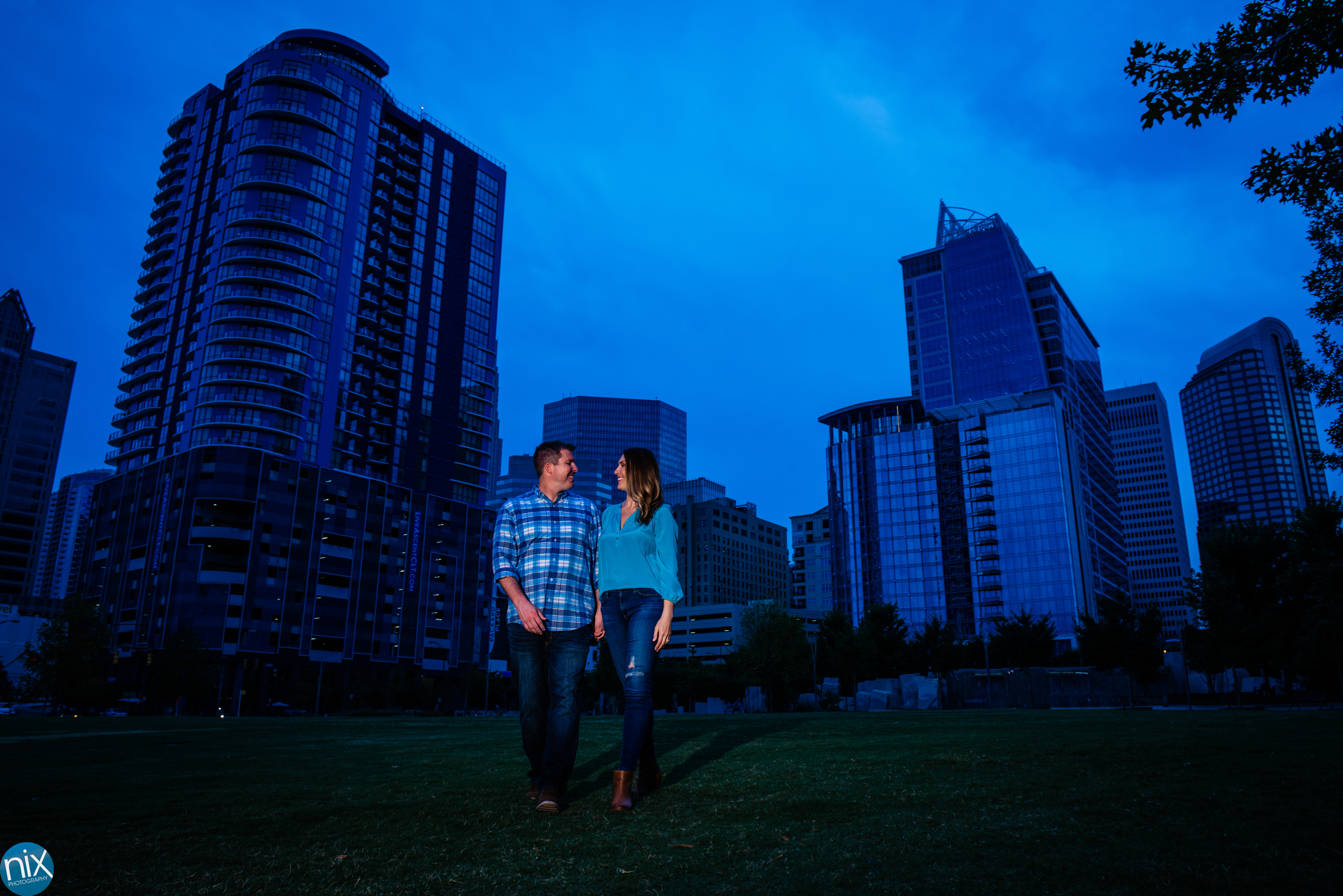 engagement photos at romare beardon park.jpg