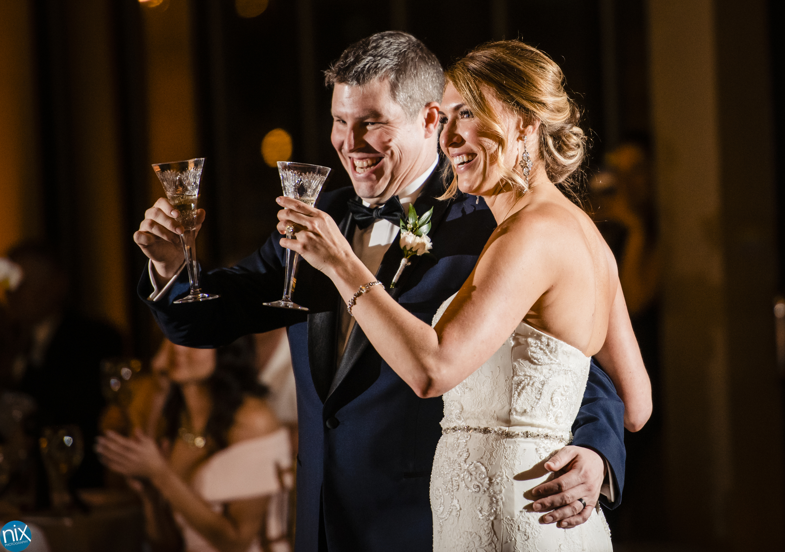 bride and groom toast during wedding at the Terrace at Cedar Hill.jpg