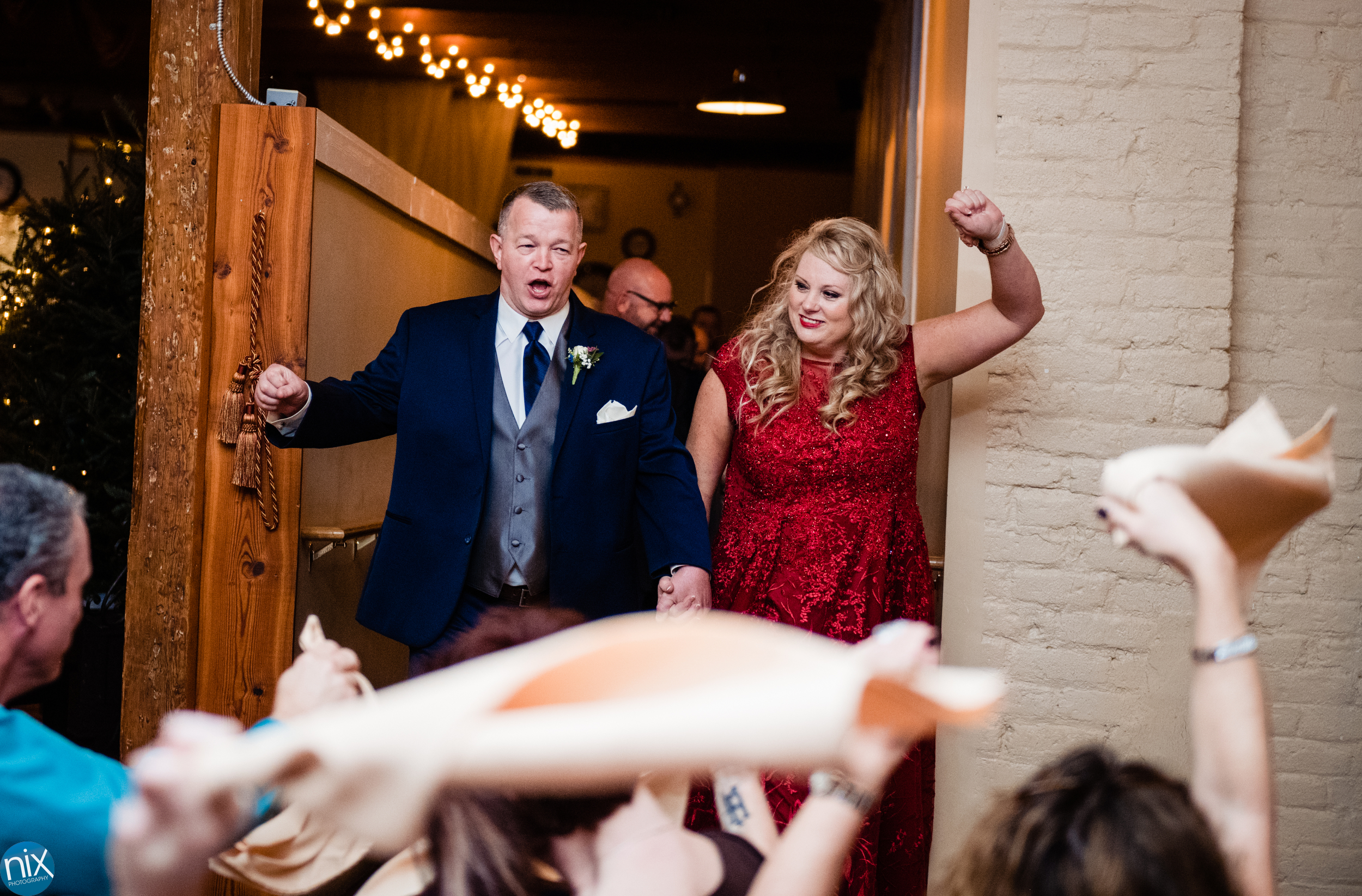parents are introduced during wedding at Laboratory Mills.jpg