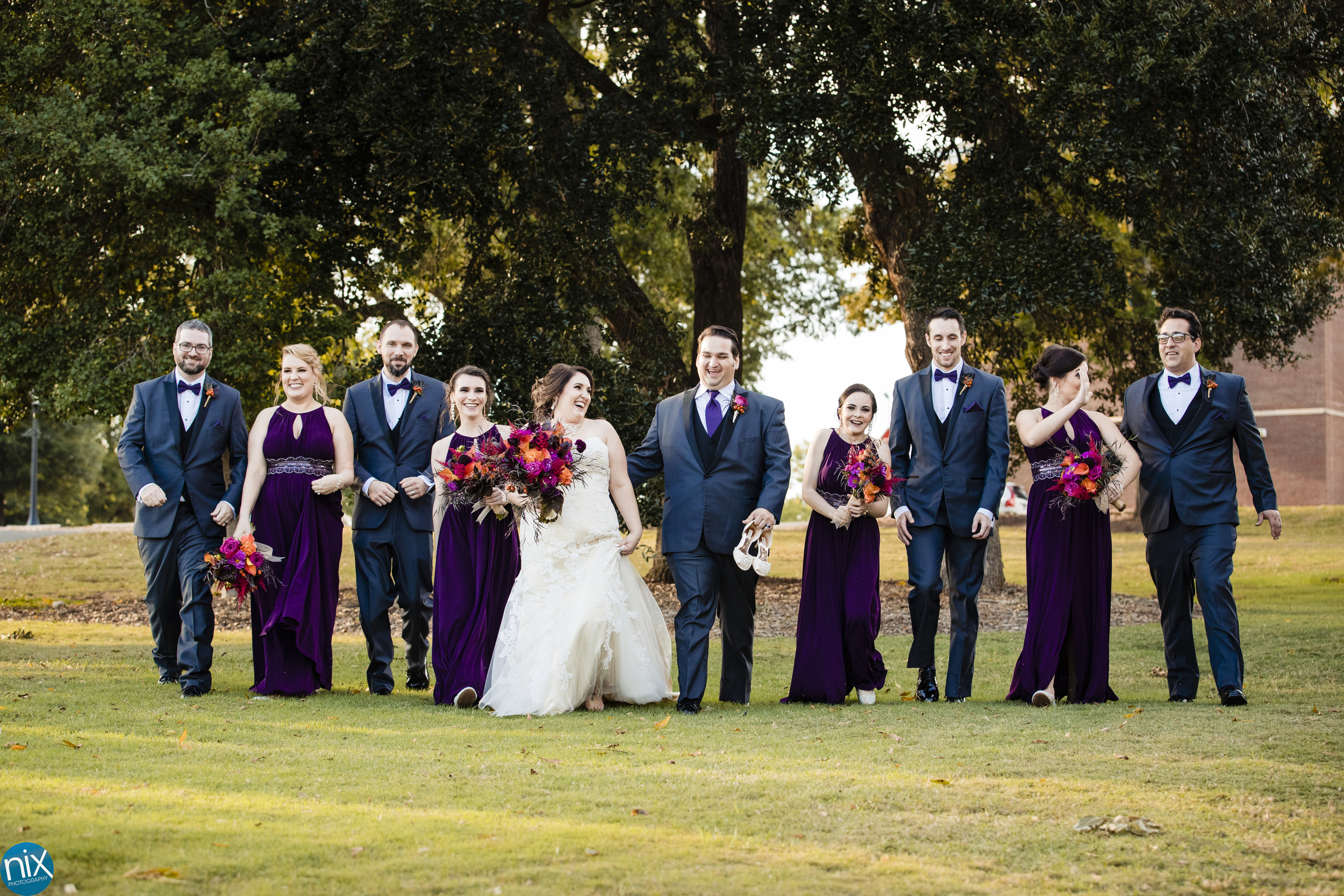 wedding party at Whinthrop University.jpg