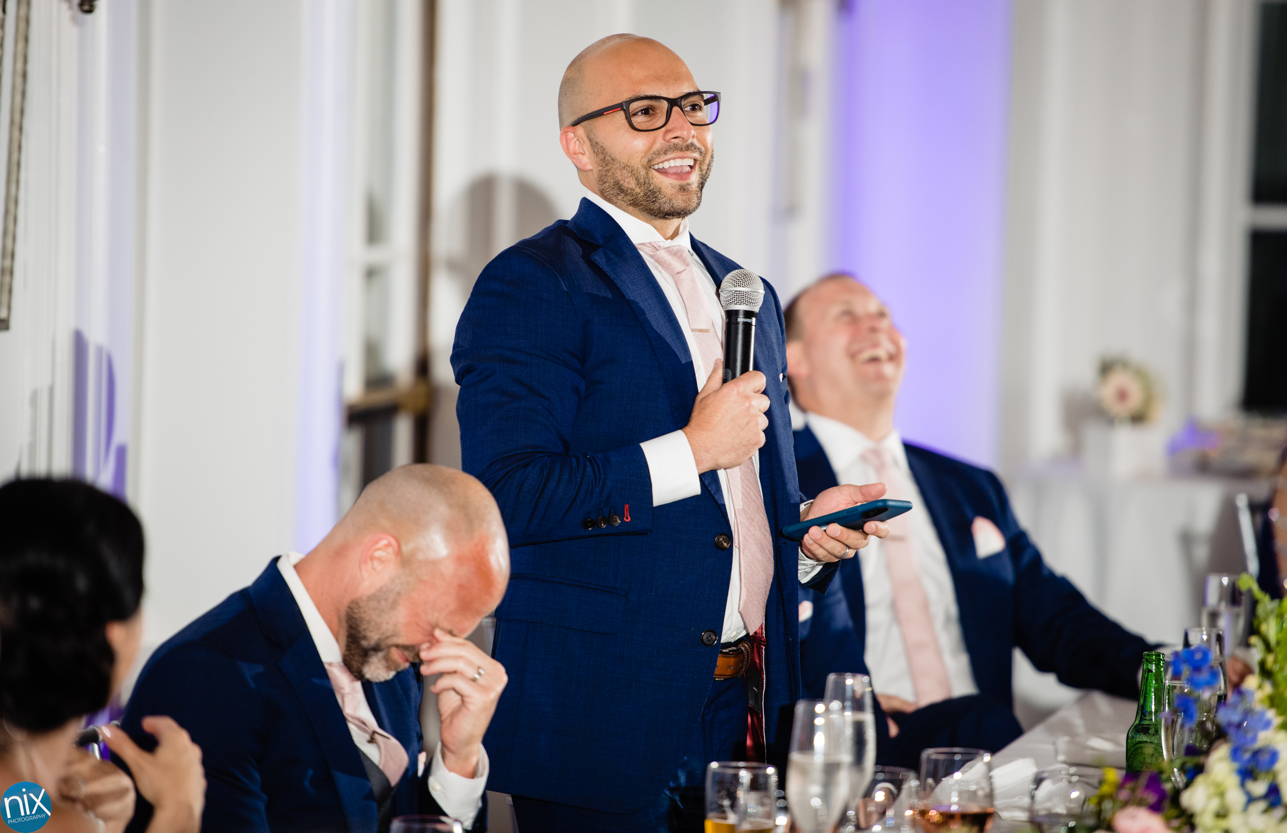 best man toast at River Run Country Club wedding