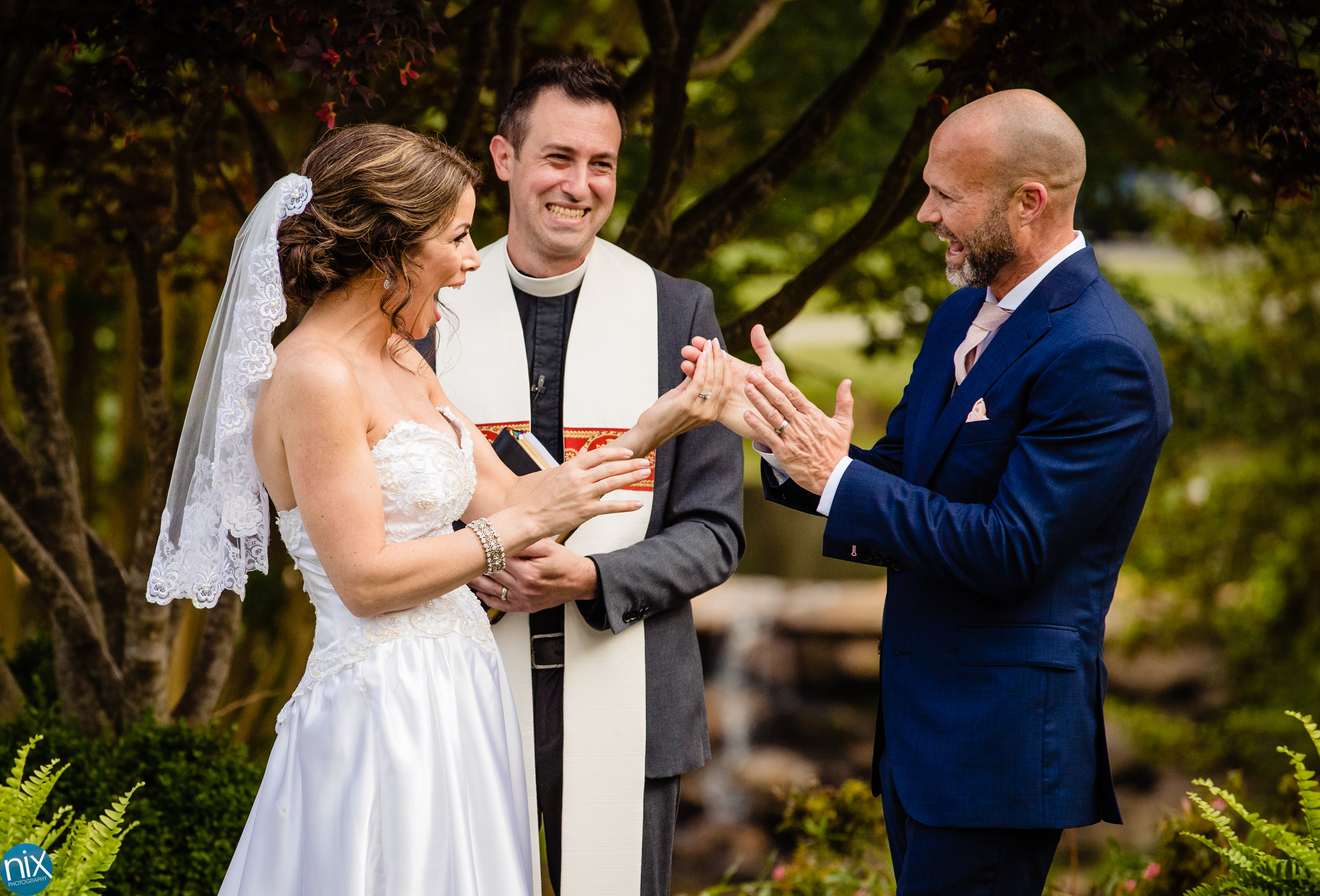 husband and wife are announced after wedding ceremony