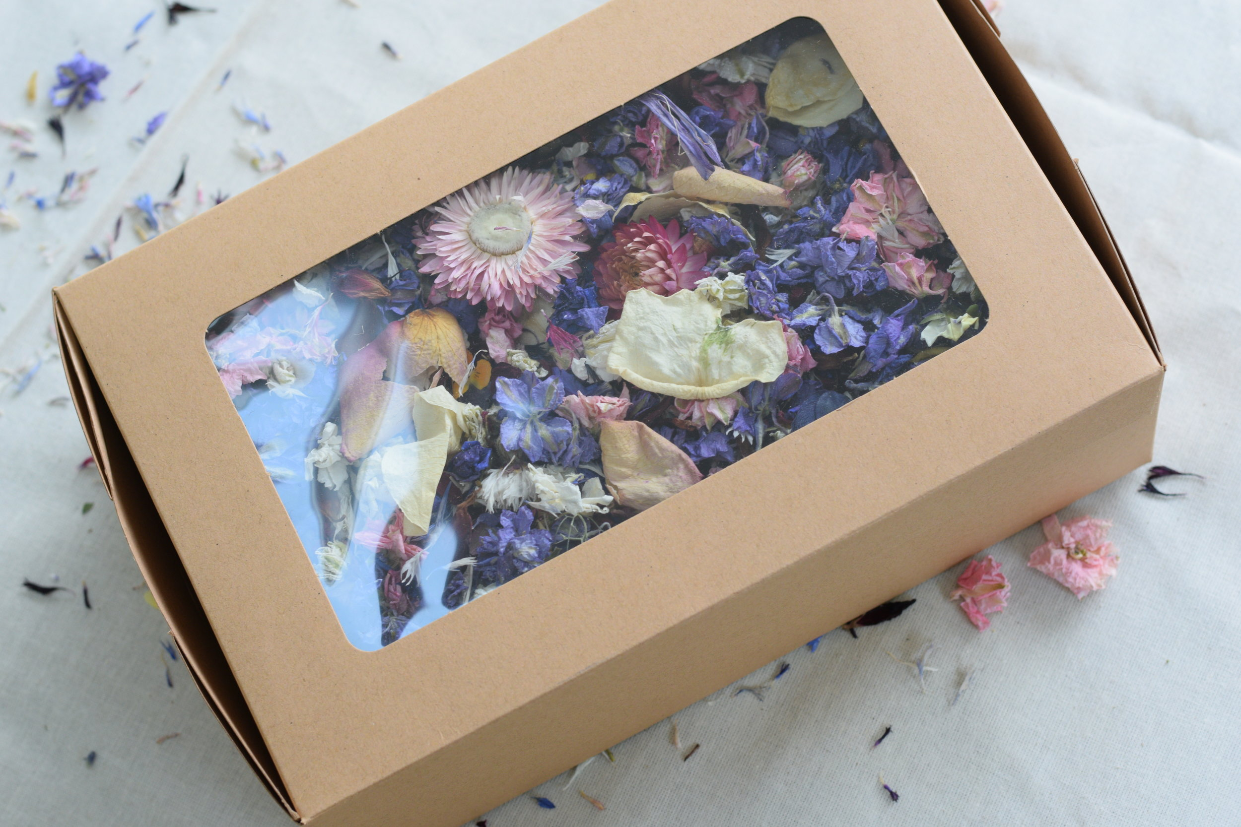 Real Petal Confetti - Let your guests go wild with 100% biodegradable dried petal confetti!.