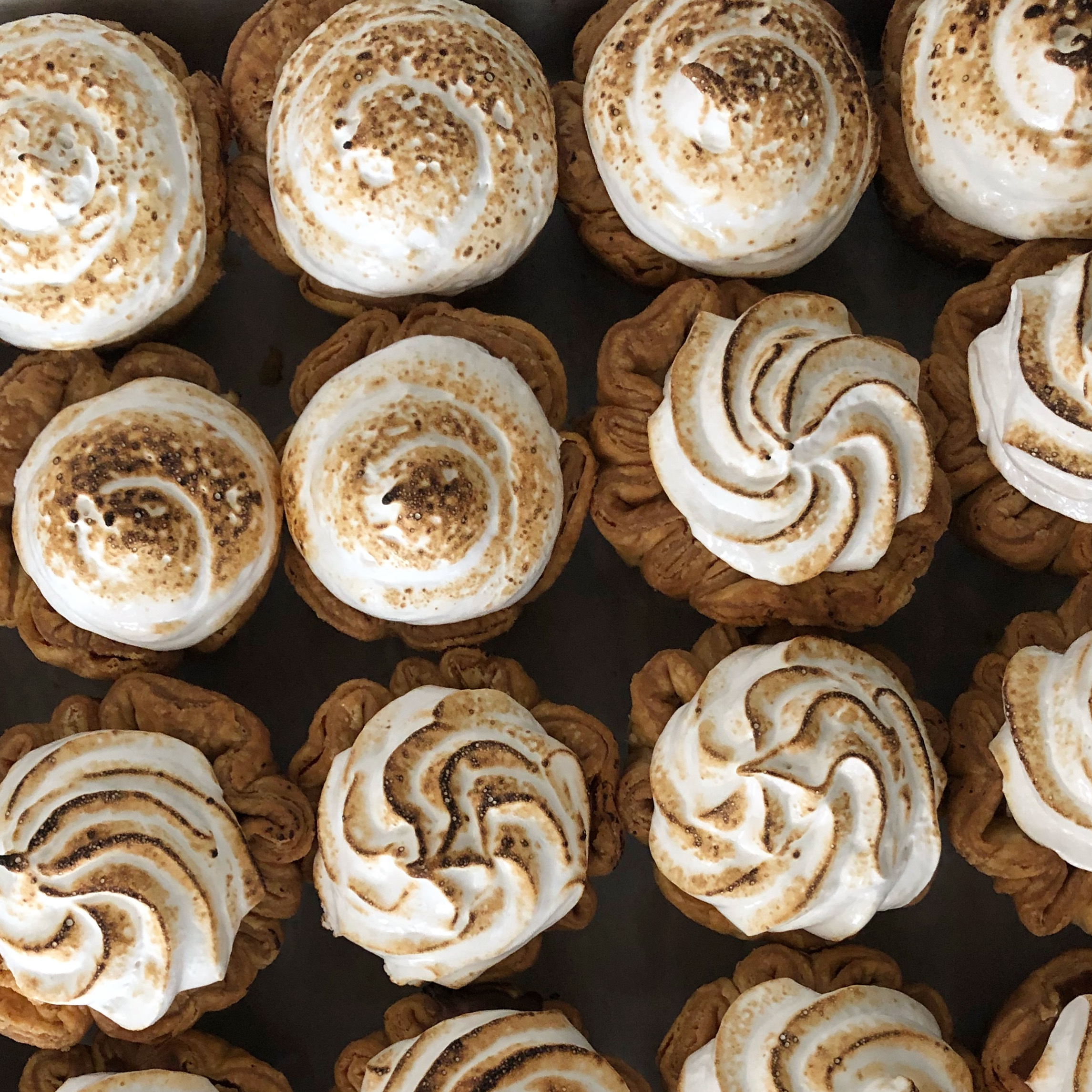 The ideal meringue is stiff on the outside, fluffy on the inside, and lightly toasted.