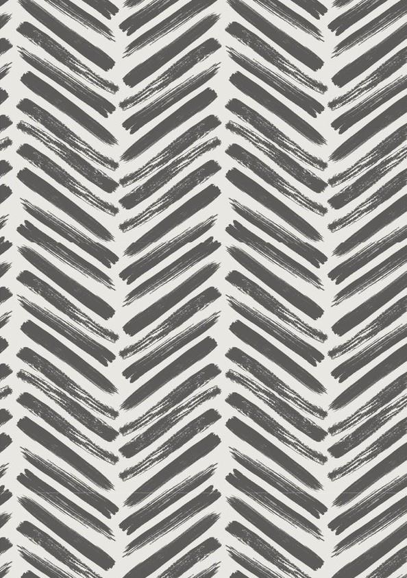 Wallpaper option 1: Herringbone in Charcaol