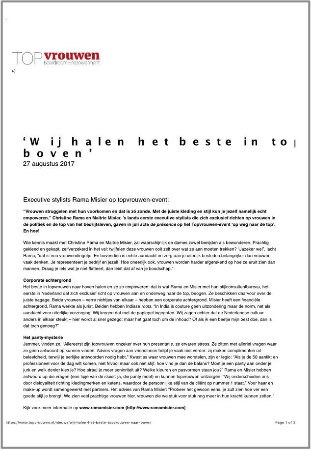 Stichting TOPvrouwen
