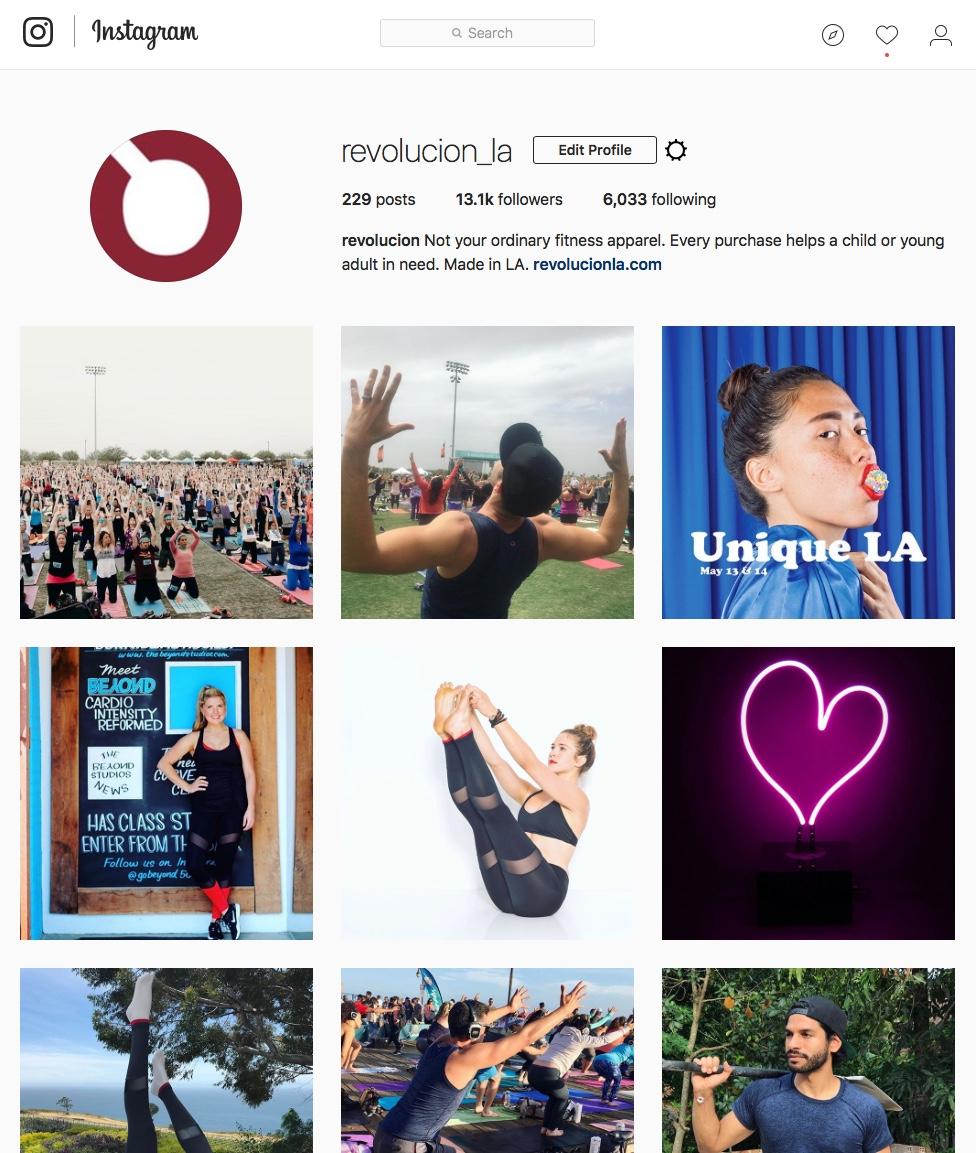 revolucion Instagram graphic