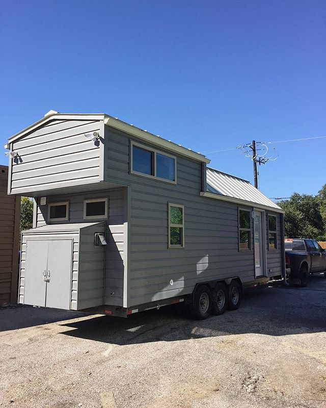 Got the Davis ready to go today! Off to its permanent home with our awesome clients Cody & Sara in New Mexico! - - - - - - #tinyhouse #tinyhomes #tinyhome #tinyliving #tinyhousemovement #tinyhousebuild #tinyhomelife #minimal #minimalist #downsizing #lessismore #happy #builder #home #homes #tinylifestyle #tinyhouselifestyle #tinyhousecouple #texas #tinyhouses