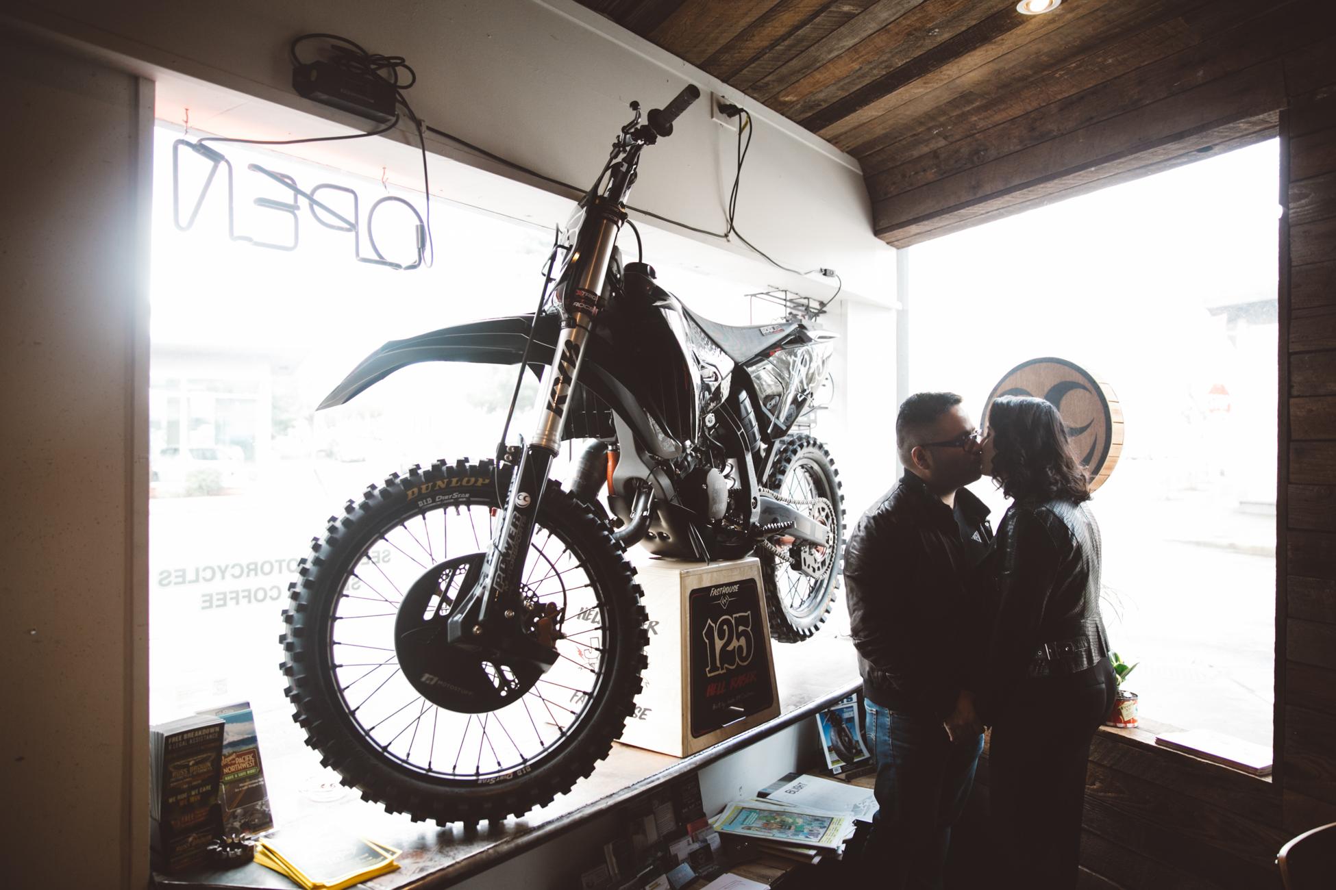ISA & EDGAR  // SEE SEE MOTORCYCLES ENGAGEMENT SHOOT