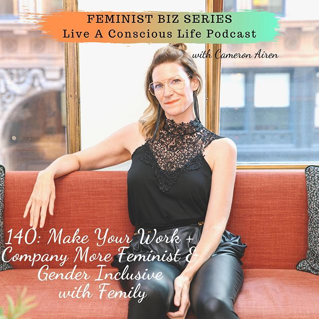 ✨NEW✨ Podcast Episode is out with this amazing gem @femilyonthego ! ⁣ ⁣ Are you ready to be inspired to go after your feminist dreams more in your biz/work? Then, you're going to love this episode!⁣ ⁣ Femily is a Gender Consultant in Silicon Valley helping companies be friendlier to womxn, nonbinary & trans folx. They have created this awesome, unique feminist biz for themselves-a perfect example for my Feminist Biz Series. ⁣ ⁣ In the episode, Femily and I chat about: ⁣ ⁣ 🌈 How Femily has been inspired to and created this unique business for herself ⁣ ⁣ 🌈 Examples of how companies can be more feminist and less bro culturey⁣ ⁣ 🌈 How womxn are NOT the problem, it's the system that is the problem and how to change the system in the workplace (and in your biz with marketing too)⁣ ⁣ 🌈What to do when someone wants to 'pick your brain'⁣ ⁣ 🌈How Femily got her first clients when she was first starting out⁣ ⁣ 🌈 How Femily has used her strengths and what she already knew to incorporate a feminist agenda⁣ 🌈 Femily's business collaboration with her sister⁣ ⁣ 🌈 Femily's Upcoming Feminist Selfcare Retreat⁣ ⁣ 🌈 SKIRT-an unconventional, fun group for bi-curious womxn that Femily is a part of ⁣ ⁣ 🌈 + more!⁣ ⁣ Don't wait another minute, get your ears on this episode! ⁣ ⁣ 🎧 Click the link in my bio to listen or subscribe to Live A Conscious Life podcast wherever you get your podcasts 🎧⁣ ⁣ Would love to hear what you think after listening in the comments below 💋