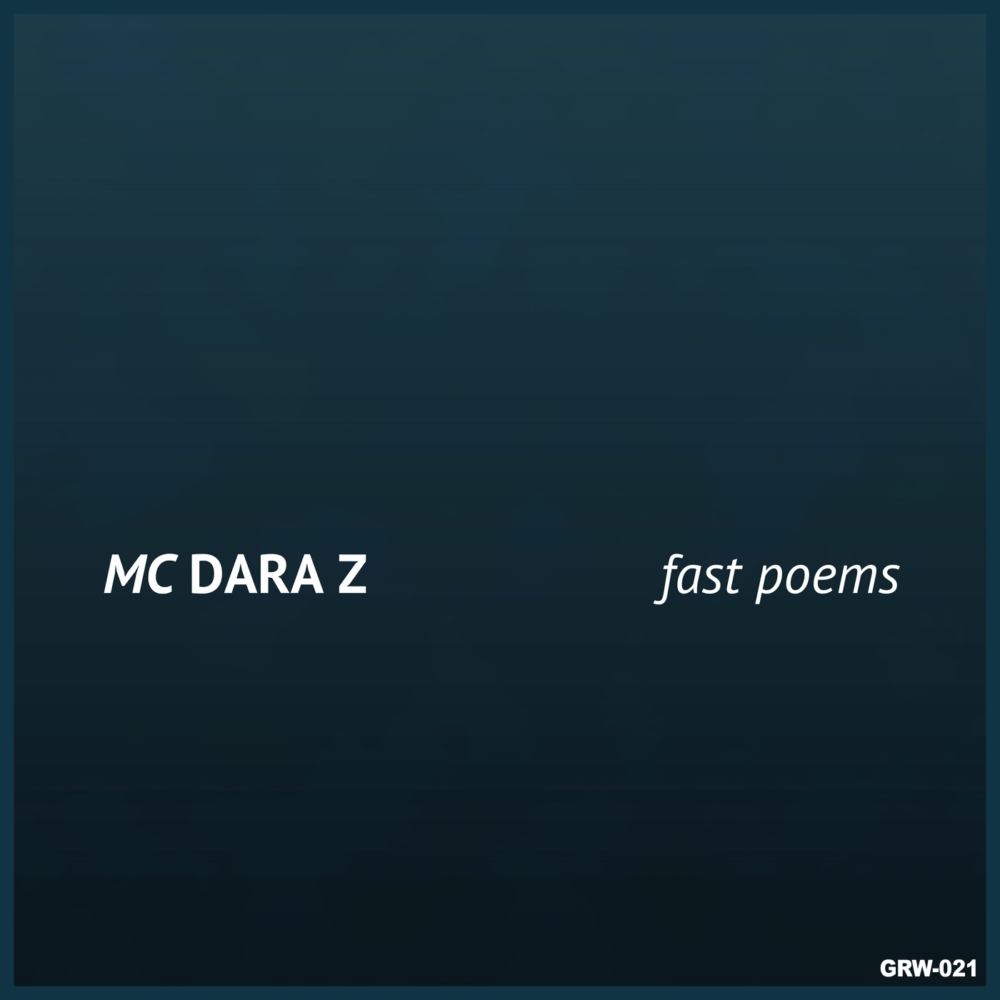 MC Dara Z - Fast Poems - cover.png