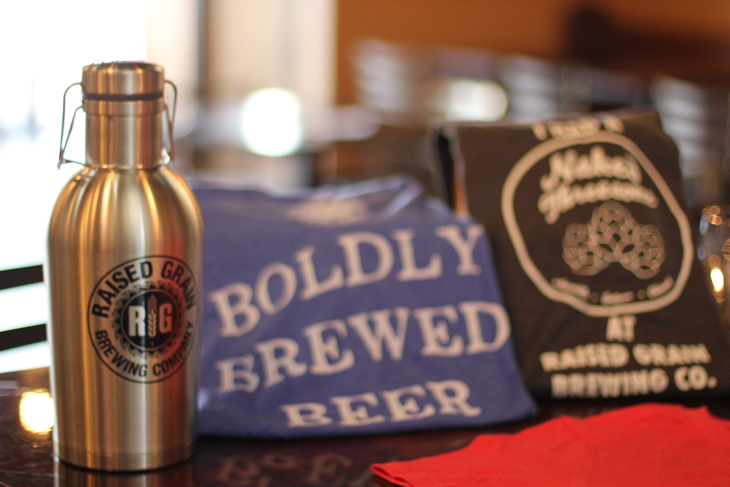 Stainless Steel Growler & T-Shirts