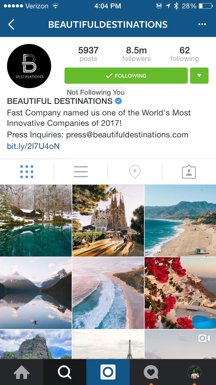 @BeautifulDestinations Instagram