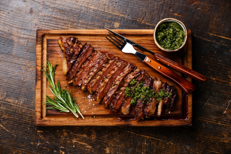 ARGENTINIAN STEAKHOUSE with chimichurri