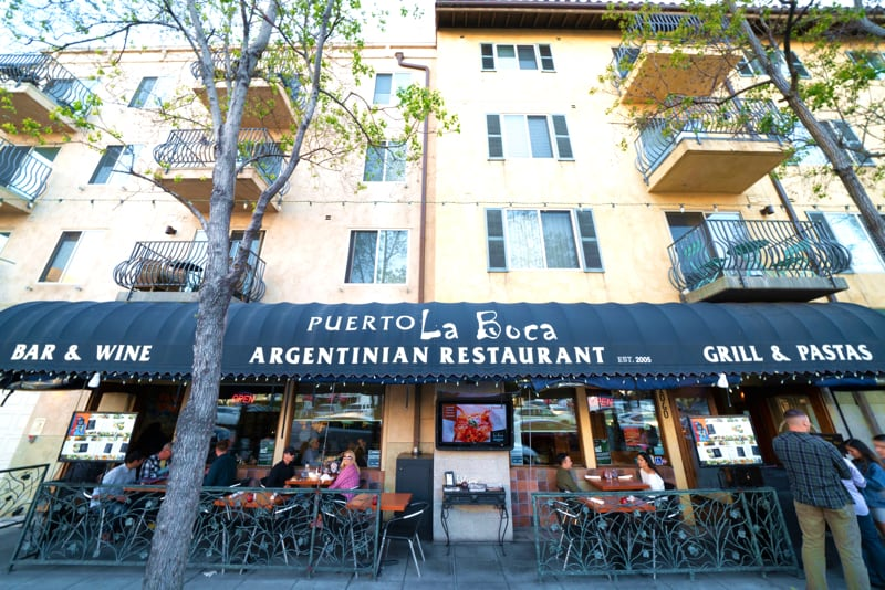 Outdoor Dining at Puerto La Boca Restaurant in Little Italy
