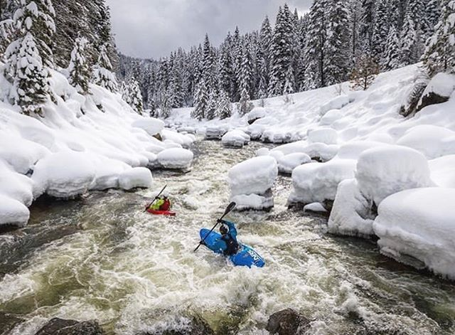 "Would you!? 🥶 #Phgb athlete @alecvoorheeskayak ""testing the waters"" #givebacksnacks #playhardgiveback #fuelyouradventure #idaho 📷: @johnjwebster"