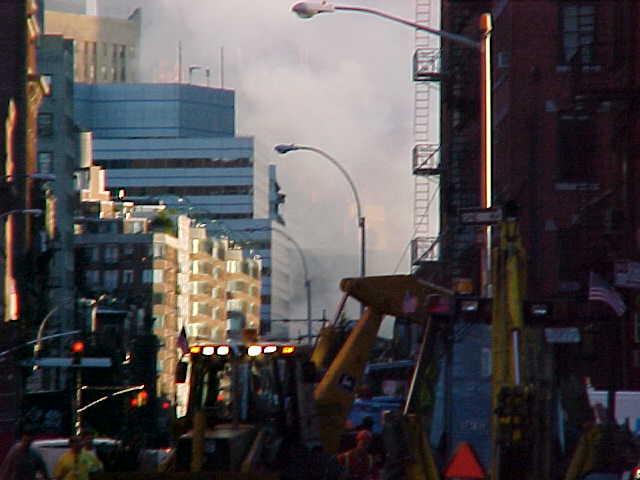 """Standing on the edge of """"Ground Zero"""" on 9/12/01"""